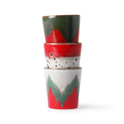 HKliving - Ceramic 70's mugs: the christmas t(h)ree