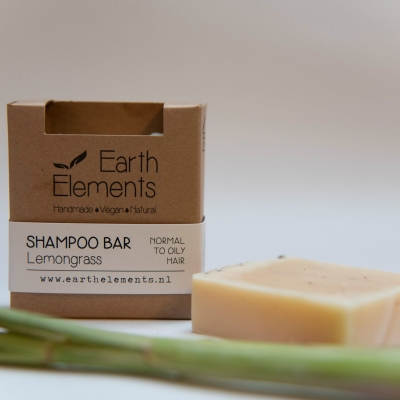 Natuurlijke haarzeep / shampoo bar (Earth Elements) - Lemongrass normal to oily hair