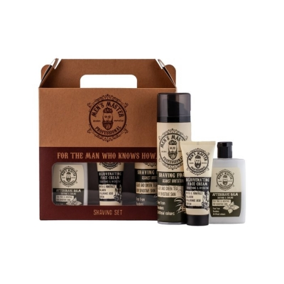 Men's Master - shaving giftset | aftershave balm + gezichtscrème + scheerschuim