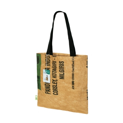 Superwaste - Super bag Tea shopper S / Fairtrade shopper tas van gerecyclede thee zakken