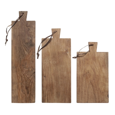 HKliving - Broodplanken teakhout gerecycled, set van 3 planken